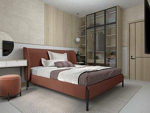 Modern Style Bedroom - 613 3D