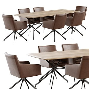 3D christine kroencke taras table yuma chair model