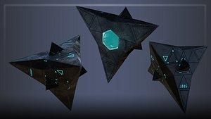 alien spacecraft 3D model