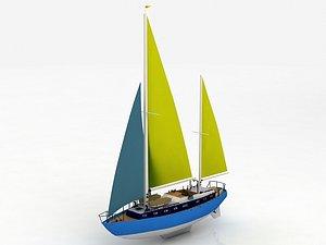 3D Moonli Sailing Ship