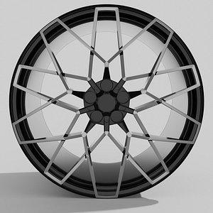 3D rim sports car model