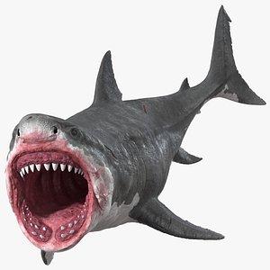Megalodon Aggressive Pose model
