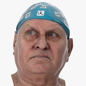 3D Homer Human Head Eyes Turn Left AU61 Clean Scan