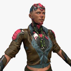 cyberpunk girl cyber model