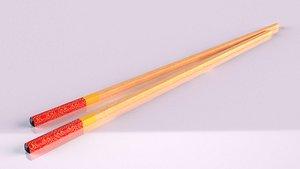 kuayzi bamboo sticks chinese 3D model