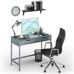 Workplace iMac Green model