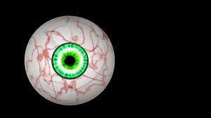 eye rigged 3D