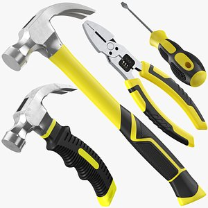 Four Hand Tools Collection 3D