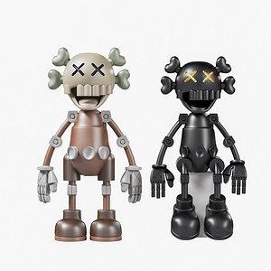 3D model kaws toys