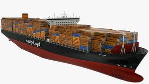 Container Ship Hapag Lloyd Paris Express 3D model