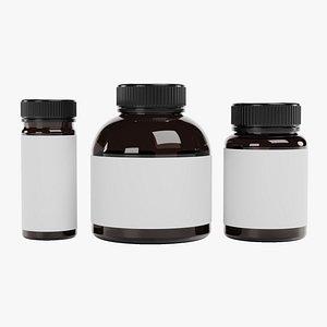 Pill Bottles 2 3D model
