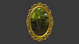 Oval Mirror Frame 3D model