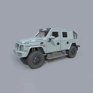 armored mercedes g500 modelled model