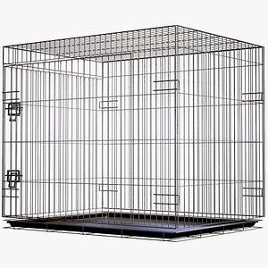Pet Cage Lowpoly PBR 3D model