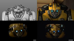 3D transformers bumblebee model