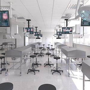 3D room interior lab model