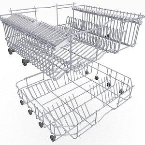 3D basket dishwasher model