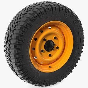 Goodyear Wrangler Mud Terrain Tyre 3D