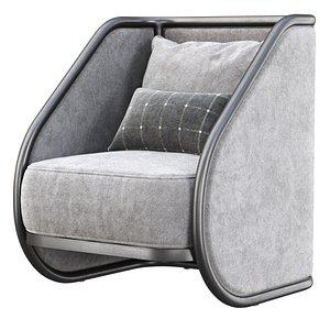 Carry velour armchair CV10 3D model