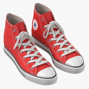 3D Basketball Shoes Red