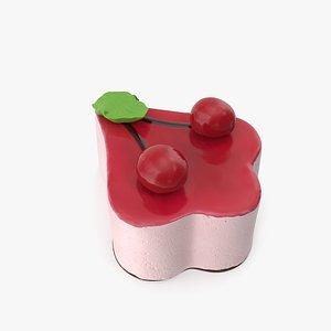 3D Cherry Yoghurt Cake