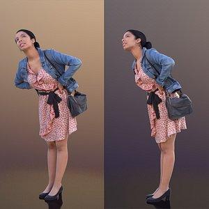 3D model woman summer dress