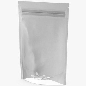 3D Zipper White Paper Bag with Transparent Front 150 g Mockup
