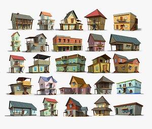 3D toon cartoon house