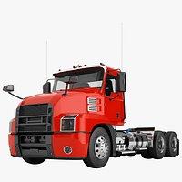 Semi Truck Day Cab Generic 01