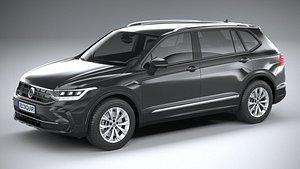 3D Volkswagen Tiguan Allspace 2022 model