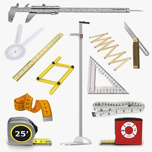 3D Measure Tools Collection 10 model