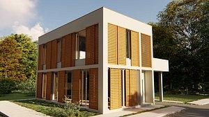 2 Storey House Exterior Render 3D