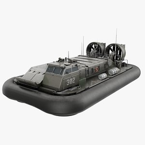 3D military hovercraft