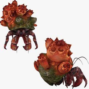 Hermit Crab HD 3D 3D model