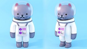 Astronaut Cat 3D model