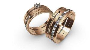3D Rings Love Forever