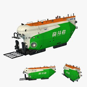 3D model China Struggle 10,000-meter manned submersible