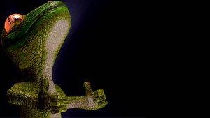 3D gecko rigged