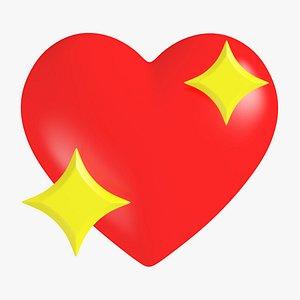 3D Sparkling Heart