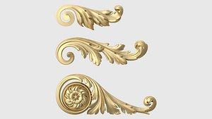 onlay moulding finishes 3D