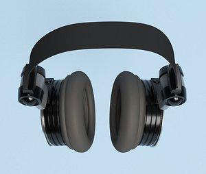 headphones headset electron 3D model