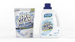 3D oxiclean liquid laundry cleaning model