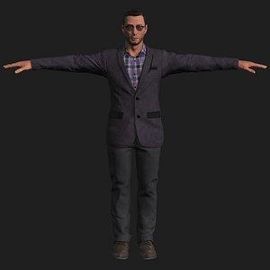 male business man 3D