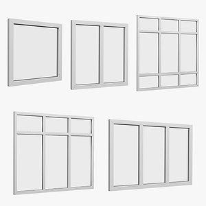 window set 3D model