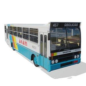 Onibus Ciferal Padron Alvorada III 1990 MB 1318 Acari 3D model