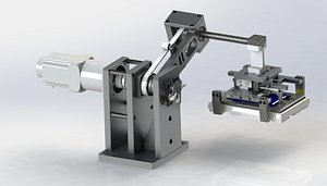 angle automatic adjustment mechanism 3D