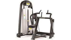 GYM back exercise machine 3D model