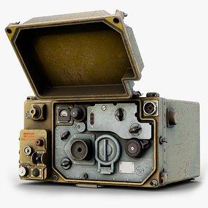 R-107 Radiostation Rigged GameReady LODs 3D model