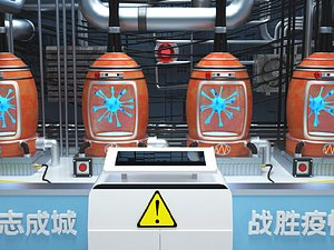 3D Epidemic prevention and control laboratory factory chemical chemical insulation tank reactor isolati