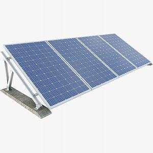 Solar Panel 4 With PBR 4K 8K 3D model